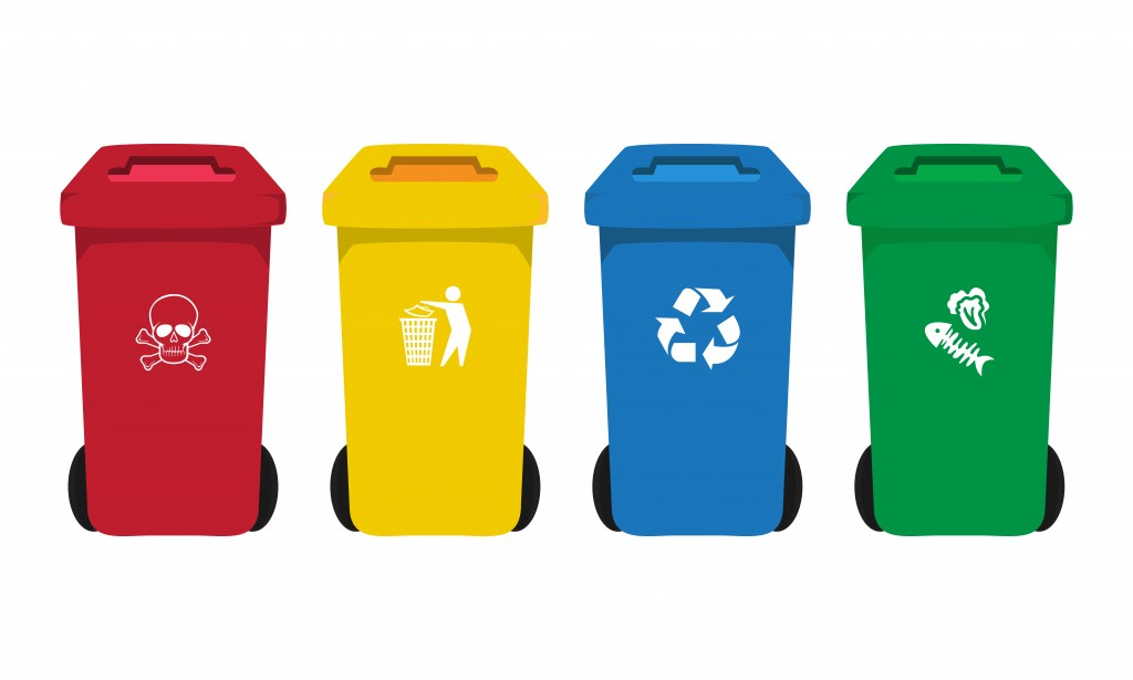 4 trash bins concept