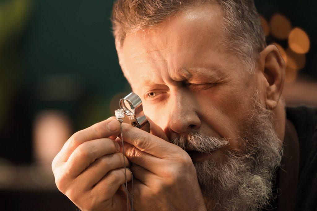 checking jewelry
